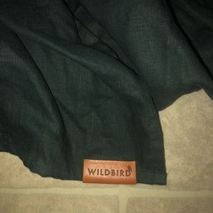 Baby sling - wildbird double linen